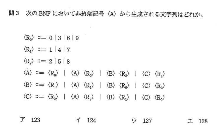 応用情報技術者 平成26年春期 午前問3