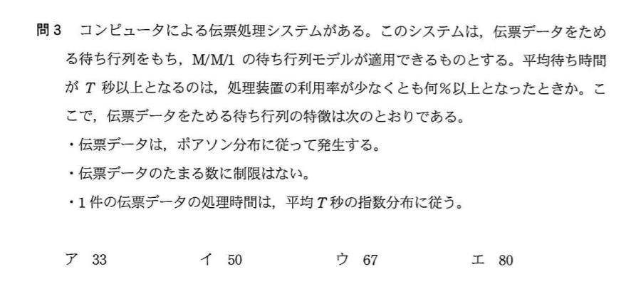 応用情報技術者平成26年秋期 午前問3